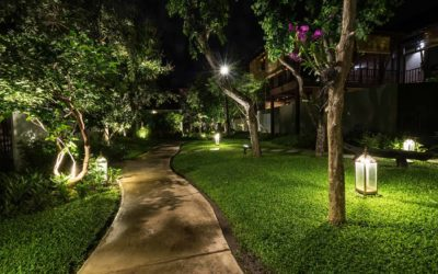 Add bling to your outdoors with landscape lighting